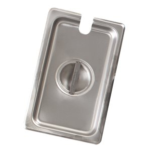 Steam table pan cover notched one-sixth