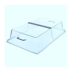 18'' x 26'' clear hinged dome cover